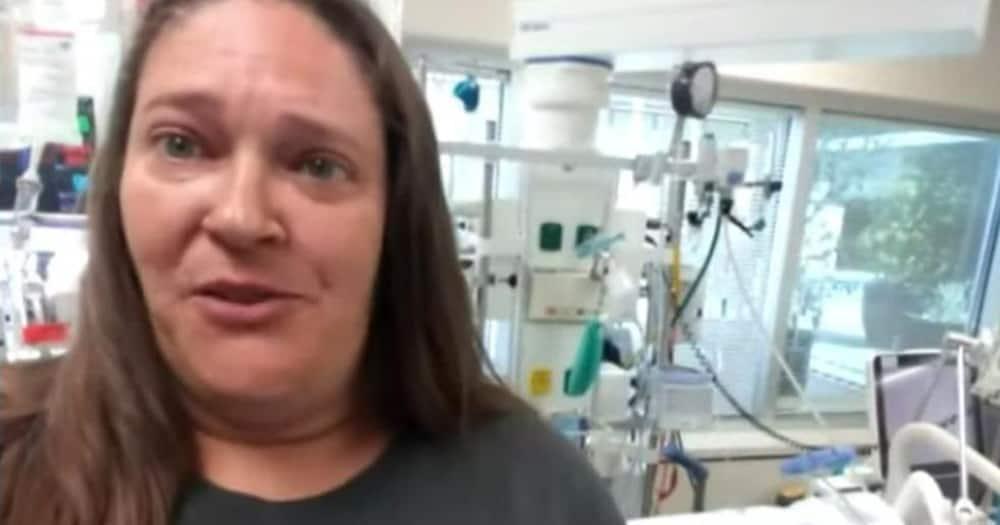Angela Morris in her daughter's ward.