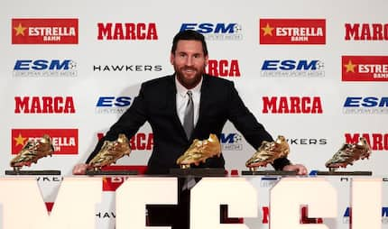 Messi wins record 5th Golden Shoe for top scorer in Europe as Mo Salah emerges second