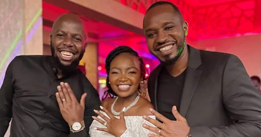 Esther Kazungu and hubby had a civil marriage.