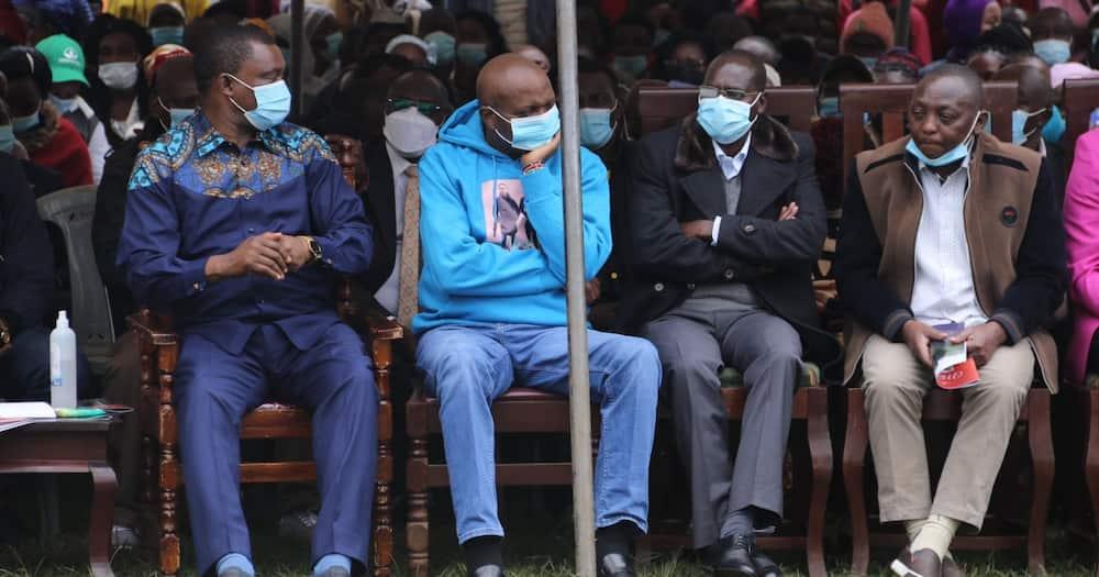 Political leaders at the requiem mass of the two slain Kianjokoma brothers. Photo: Justin Muturi.