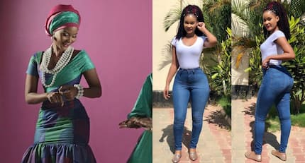 Hamisa Mobetto parades fine derrière in loose biker to prove it is real