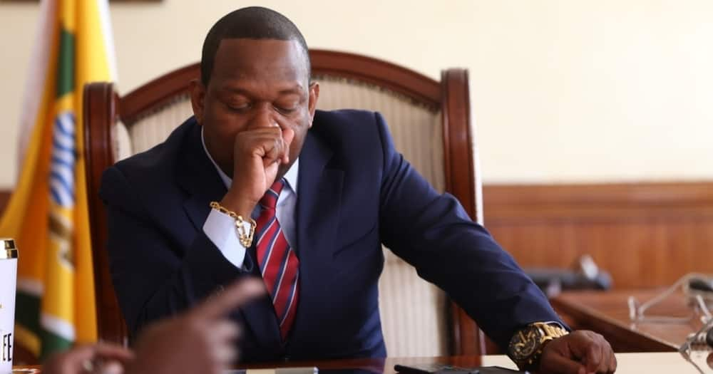 Nairobi Governor Mike Sonko arrested during a meeting with MCAs