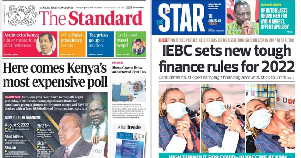 Kenyan Newspapers Review For August 10.