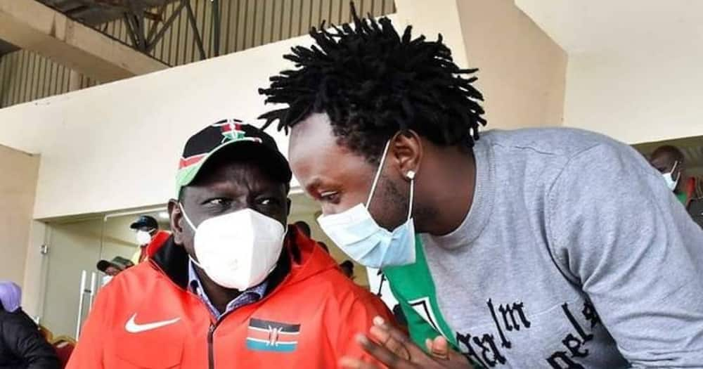 Bahati says DP Ruto urged him to release new gospel track when they went to church together.