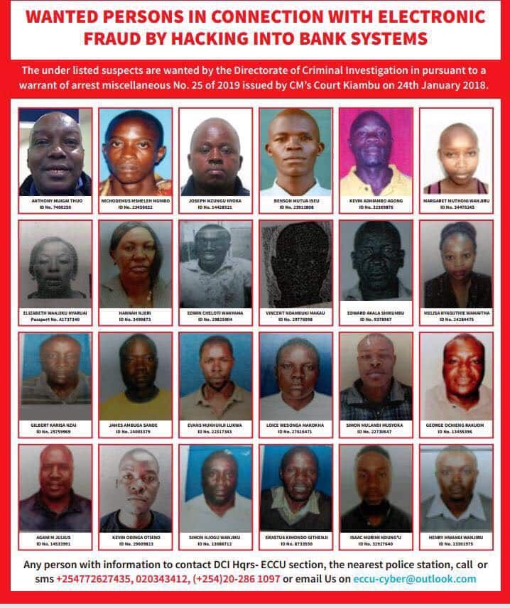 ac082784d1d6b27f - List of Top bank hackers in Kenya wanted by the DCI