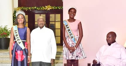 Miss World Africa from Uganda embraces African hair after President Museveni criticised her weave
