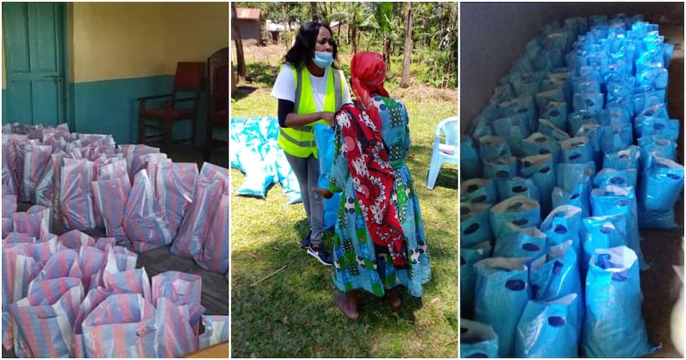 Some of the donations were done by the Kenyans Diaspora Foundation.