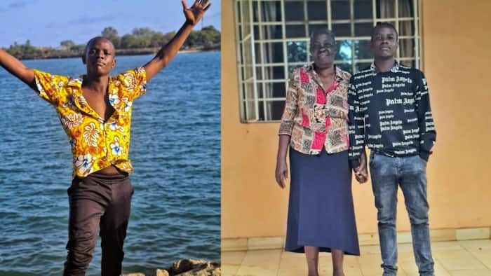 Comedian Crazy Kennar Poses With Beloved Mum While on Trip to Rural Home