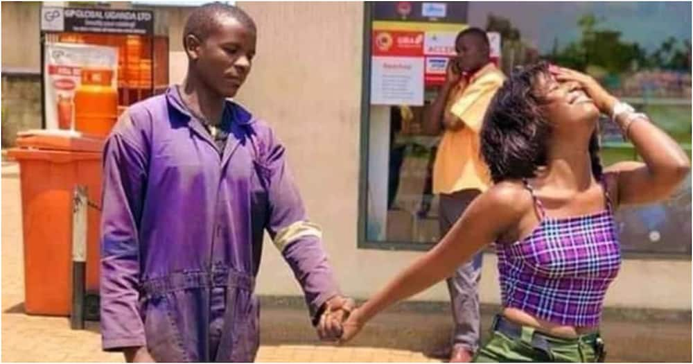 """Sassy city lawyer gleefully steps out with naive petrol attendant boyfriend: """"He makes me happy"""""""