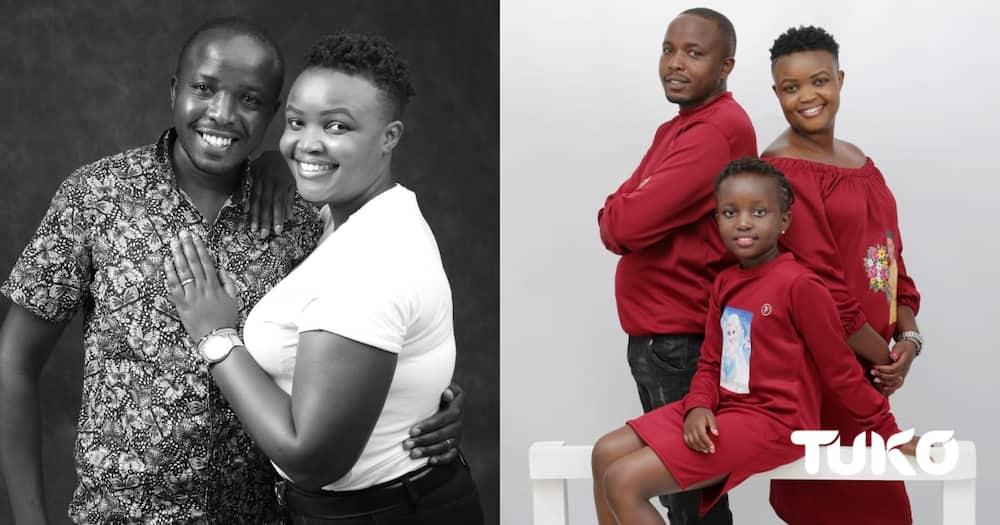 The Nduhius: Jerefasio Nduhiu, Faith Nduhiu and daughter Mary Gemalli (R) Jerefasio and Faith (L)