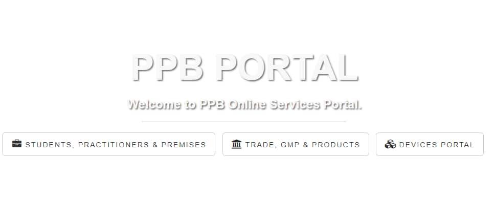 PPB student portal Log In, register, license, downloads -portal.pharmacyboardkenya.org