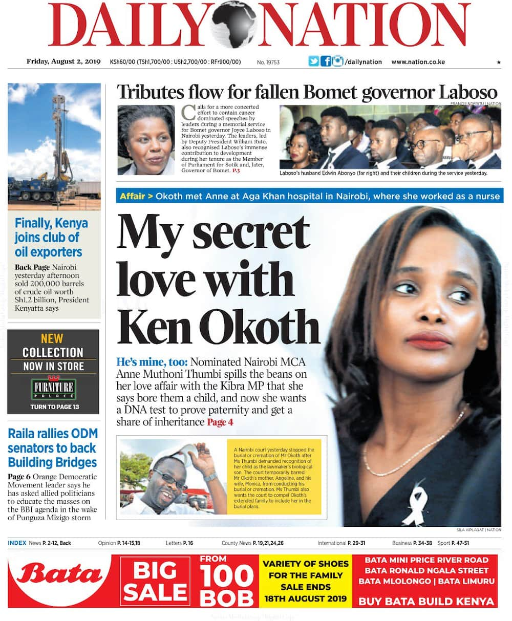 Kenyan newspapers review for Friday, August 2