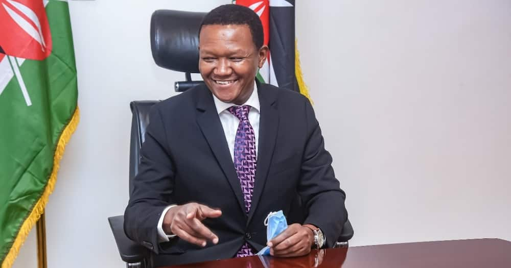 Alfred Mutua( pictured) claimed DP William Ruto was involved in graft.
