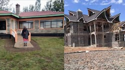 Kenyan lady who built parents house in 2012 finally constructs her mansion