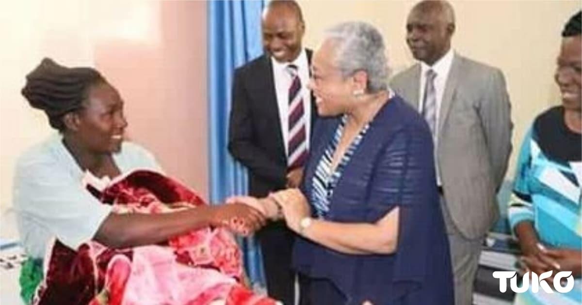 Mwanamke ampa mwanawe jina Margaret Kenyatta baada ya kujifungua katika hospitali mpya ya Makueni