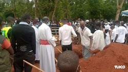 Photos: Robin Njogu Buried Next to His Mother in Cherangany
