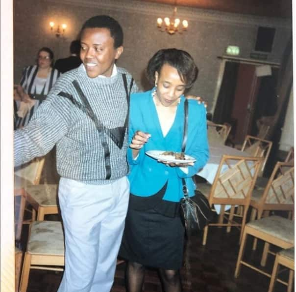 Maina Kageni remembers past in London with captivating photo of himself in Form 4