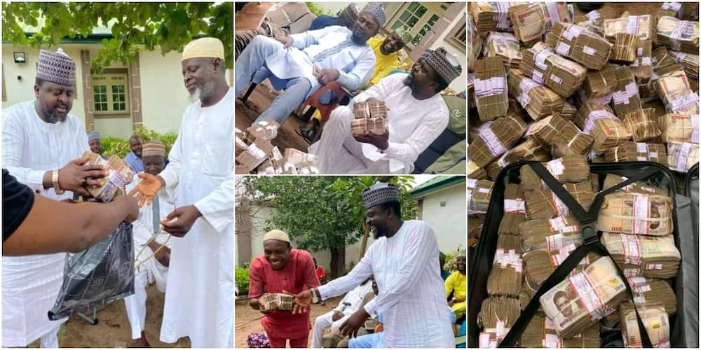 Lawmaker Blesses Constituents with N50 Million for Ramadan, Many React to Cute Photos as Money Exchange Hands