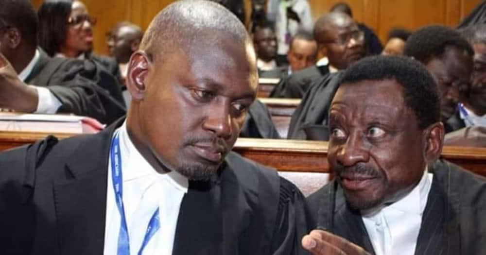 Rarieda MP Otiende Amollo and Siaya Senator James Orengo. Photo: Otiende Amollo.