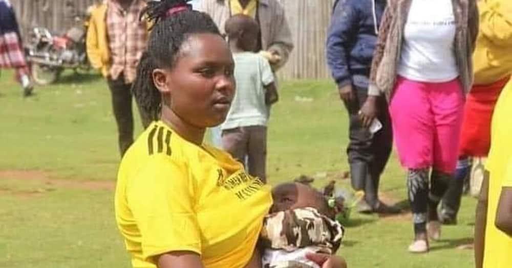 Winnie Wangui: Female footballer captured breastfeeding during half-time break found