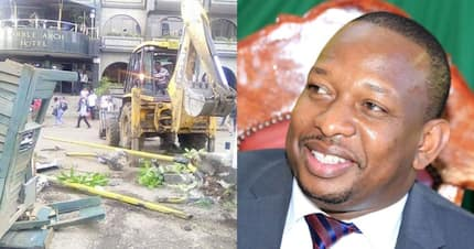 Sonko makes good his threat to bring down hotel hours after bitter exchange with proprietor
