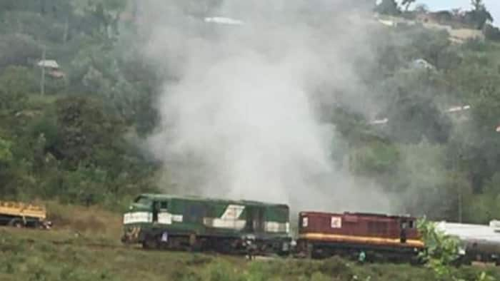 Murang'a County: Nairobi-Bound Fuel Train Catches Fire Mid-Journey