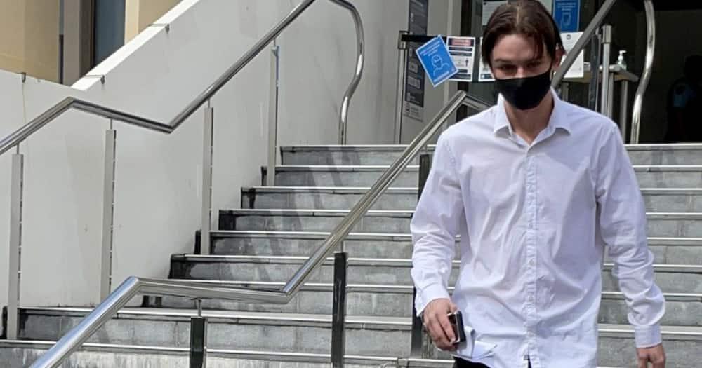 Jamie Pitman-Muir lied that he had tested positive for COVID-19. Photo: @news.com.au.