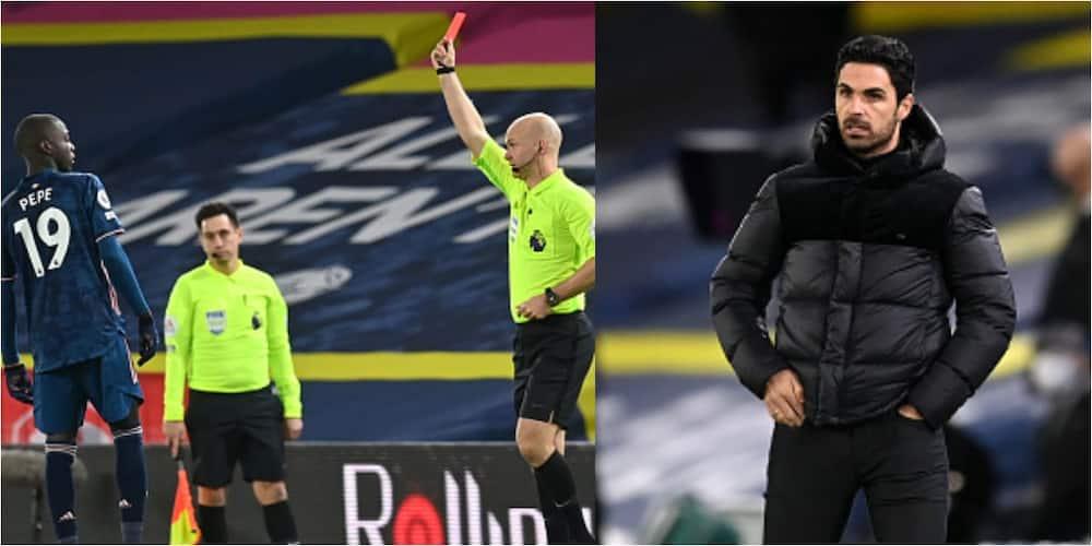 Mikel Arteta says Pepe's headbutt on Alioski is unacceptable