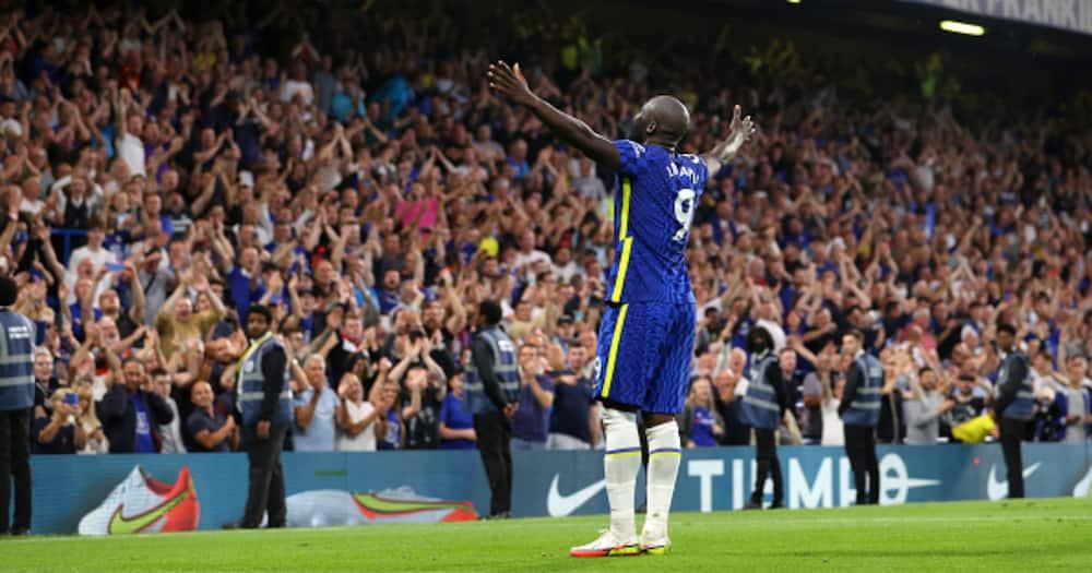 Romelu Lukaku celebrating after scoring for Chelsea. Photo: Getty Images.