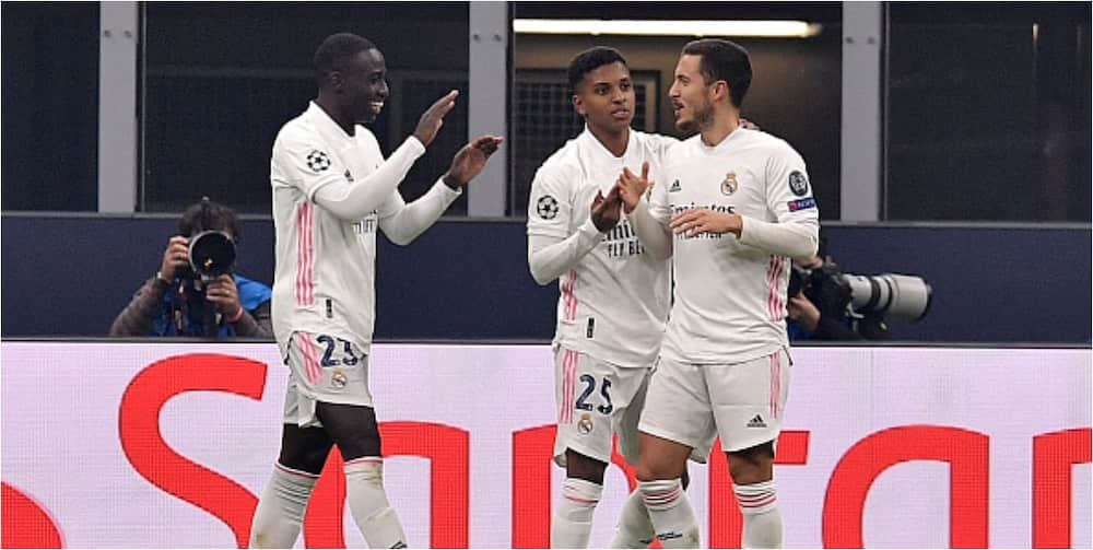 Inter Milan vs Real Madrid: Hazard, Rodrygo score as Los Blancos win 2-0