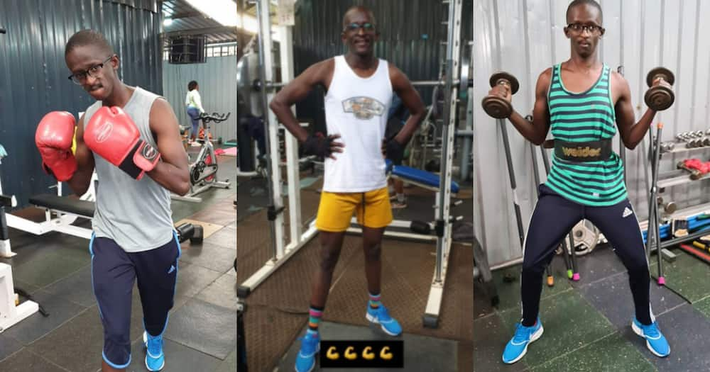 Comedian Njugush shows off his muscly, toned body after intense workouts