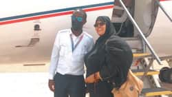 """Kenyan Teacher Excited After Being Flown by Pupil She Taught in Primary: """"Thanks Son"""""""