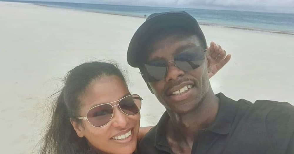 """Julie Gichuru excites fans with photo of hubby sleeping on her thighs: """"My biggest baby"""""""