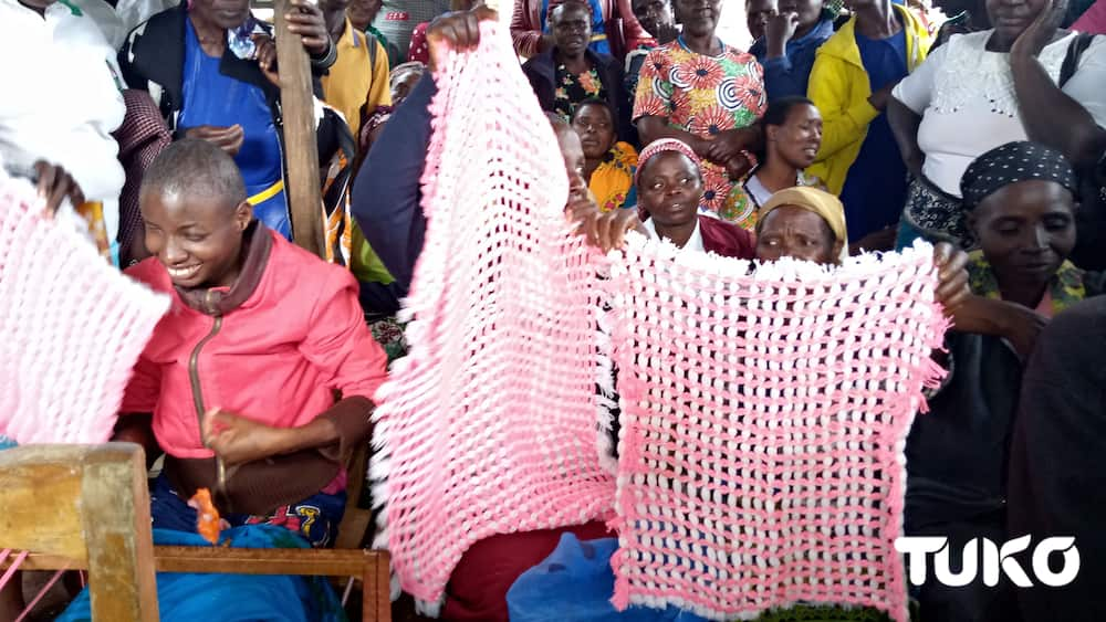 Disability is not inability: Meet Kisii blind, dumb woman making woven tablecloths
