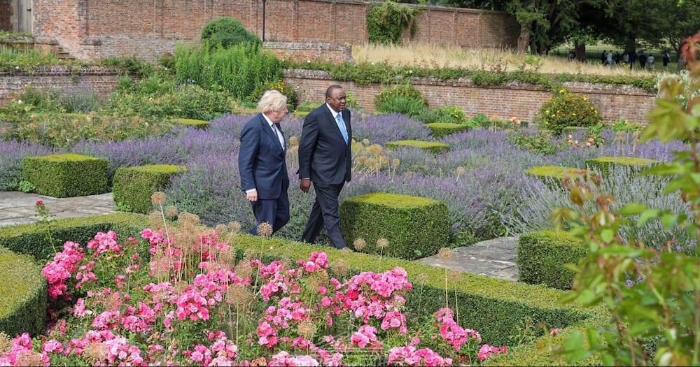 Prime Minister Borris Johnson played host to President Uhuru Kenyatta.