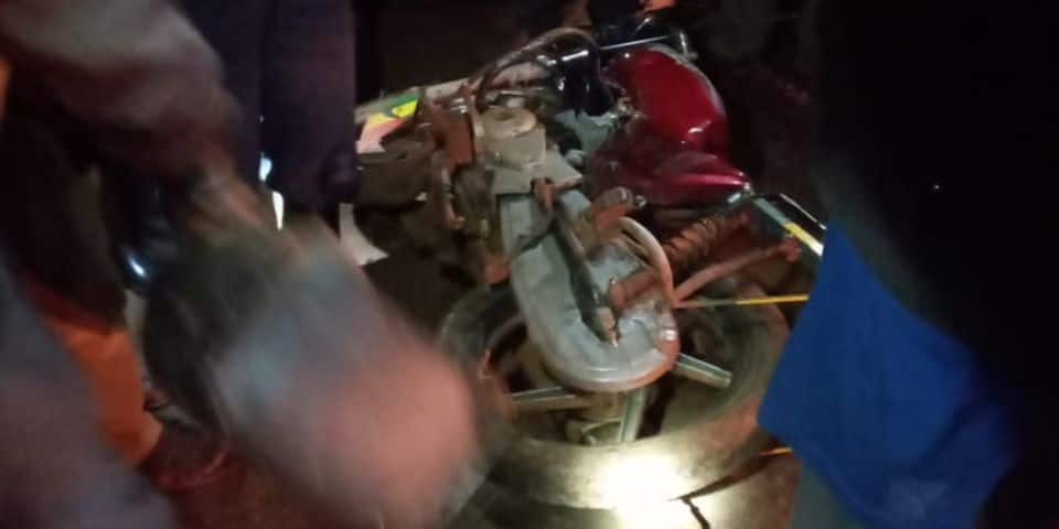 The deceased were a motorcycle rider and his passengers who were heading to Oyugis Town a few minutes before 8 pm. Photo: Nation