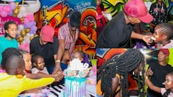 Wahu, Nameless Throw Daughter Nyakio Lovely Birthday Party at Village Market