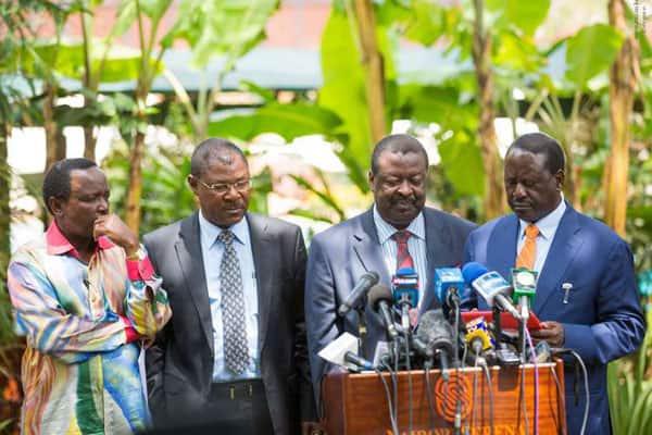 Raila, Mudavadi, Kalonzo, Wetangula in one meeting for first time since Uhuru-Raila handshake
