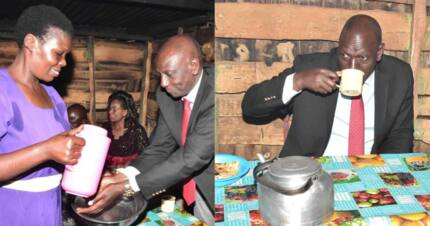 Ruto surprises mama chai with KSh 100,000 after being served tea worth KSh 250