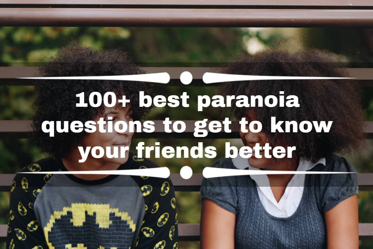 Party game questions paranoia 59 Good