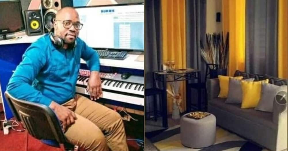 Reagan Ayodi made the shift from a music producer to selling curtains and duvets to cater for his nine-month-old baby.