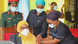 Samia Suluhu Takes COVID-19 Jab, Asks Tanzanians to Follow Suit to Defeat Virus
