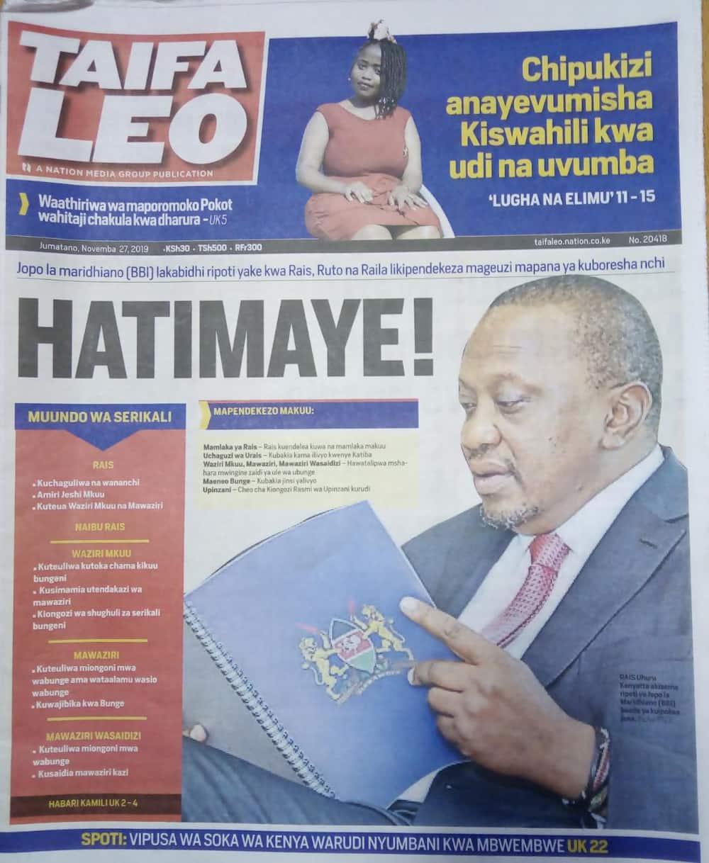 Kenyan newspapers review: BBI wants IEBC overhauled for lack of public confident