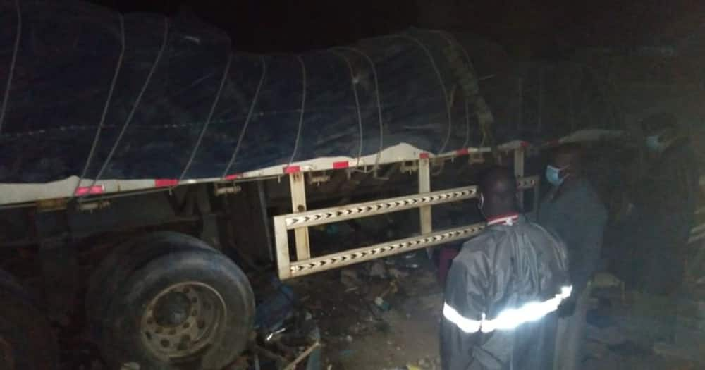 Two people died after a lorry hit a rental house in Homa Bay.
