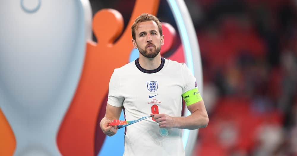 Harry Kane in action for England.
