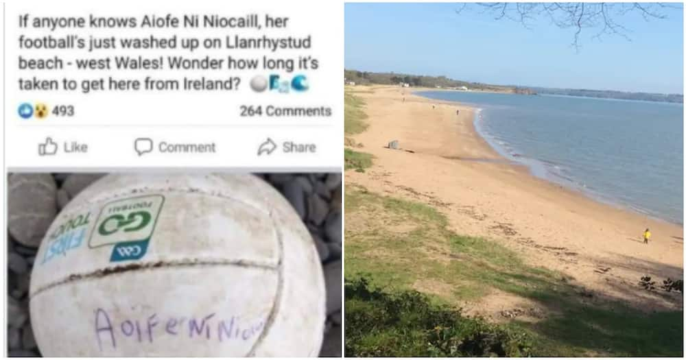 10-year-old remarkably reunited with lost ball which travelled 200km at sea