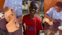 Prince Atwi: Ghanaian Pupil Builds Wooden Car that Moves from Scratch, Video Goes Viral