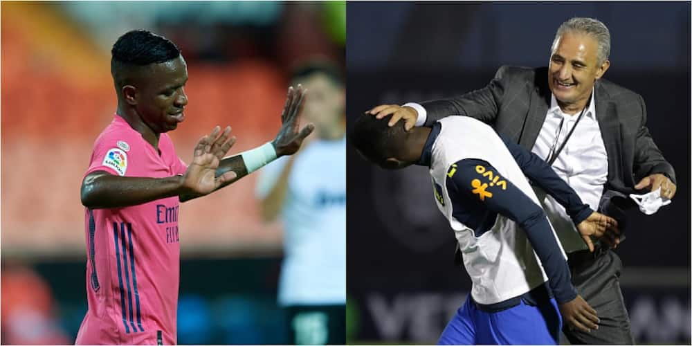 Vinicius Junior travels 20000km to play for Brazil but was an unused sub