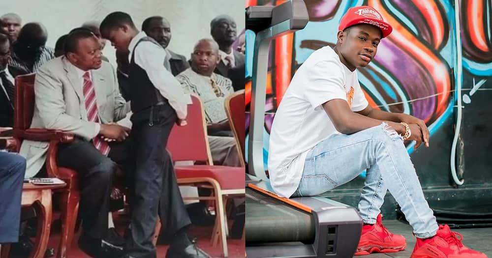 "Mike Sonko's Adopted Son Gift Osinya Reminisces on Meeting President Uhuru: ""God's Plan"""