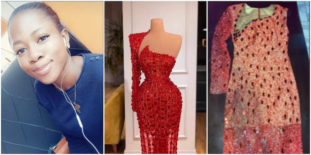 Young lady cries out over what a tailor made for her for 65k (photo)